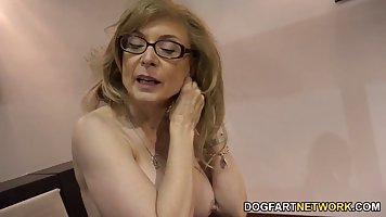 Mature blonde woman, Nina Hartley is always in the mood to h...