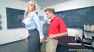 Bridgette B is doing some very naughty things with her stude...