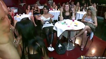 Sexy girls and women are having fun with a super handsome da...