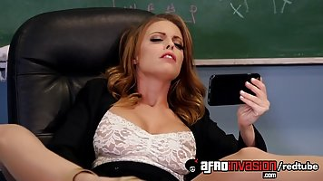 Britney Amber was caught masturbating in the classroom, so h...