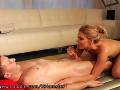 Chick who is in charge for nuru massage also likes to get fu...