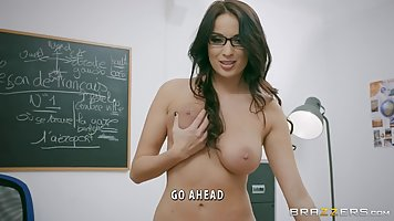 Big tited teacher, Anissa Kate is having anal sex, in front ...