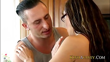 Horny step son is fucking his dirty step mom in her big ass,...