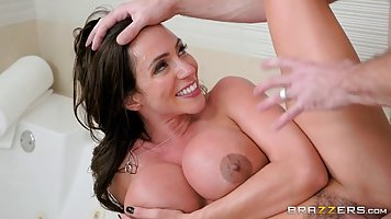 Ariella Ferrera is doing it with her lover, while her partne...