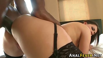 Big ass babe is sucking her boyfriend's cock, while getting ...