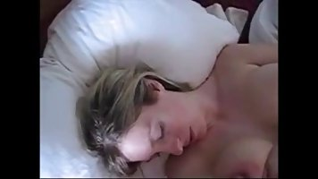 Plump blonde wife with big milk jugs is about to get a nice,...