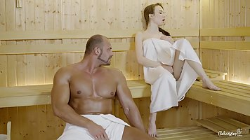 Russian chick with braided hair and big tits got fucked in t...