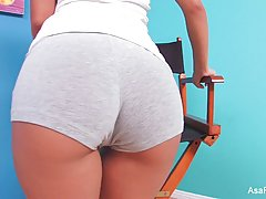 Asa Akira is a hot brunette who likes to stimulate her fuckh...