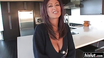 Busty woman is cheating on her husband every once in a while...