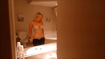 Insatiable blonde woman can not hold back from fucking her y...