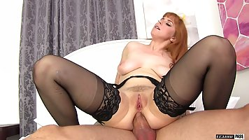Red haired woman, Penny Pax is sucking dick and getting it i...