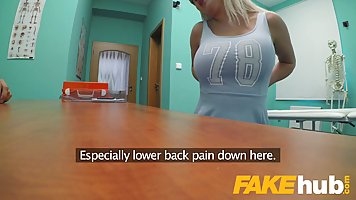 Busty blonde woman is having the best sex ever in the hospit...