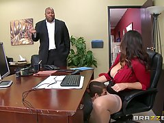 Gorgeous secretary, Alison Tyler is always in the mood to ge...