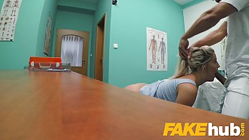 Handsome doctor is fucking his patients in his office, and m...