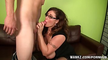 Chubby milf in stockings, Eva Notty is having a nice sex act...