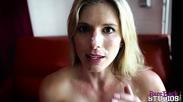 Lusty blonde lady is getting fucked from behind and screamin...